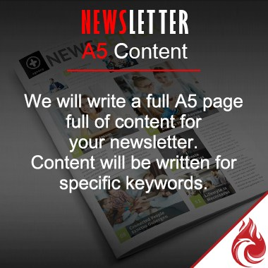 News Letter A5 Content Writing