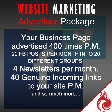 Website Marketing -  Advertiser Package